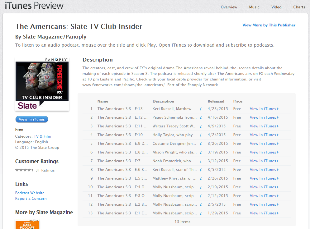 iTunes   Podcasts   The Americans  Slate TV Club Insider by Slate Magazine